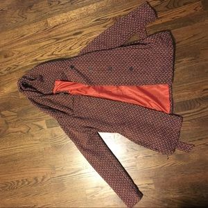 Jackets & Blazers - Strike pattern pea coat